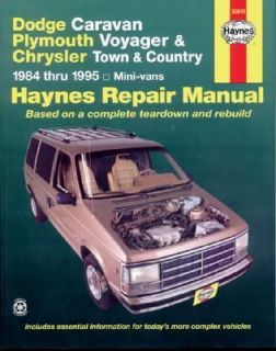 Chrysler Mini Vans, 1984 1995 Caravan, Voyager, and Town and Country
