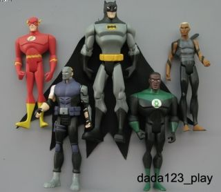 LEAGUE BATMAN Katma Tui Flash Green Lantern Action Figures VC64