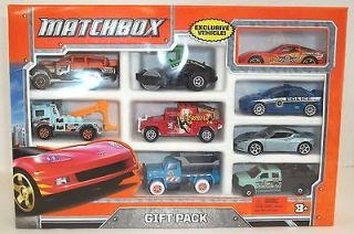 Matchbox 9 Car Gift Pack RACING SPORT RED RACE CAR Police Tow Truck
