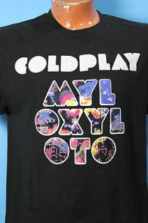 Alternative Rock T Shirt COLDPLAY Mylo Xyloto MX Tour 2012 Size Large