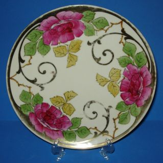 ANTIQUE VIENNA CHINA PORCELAIN PLATE ART NOUVEAU HAND PAINTED AUSTRIA