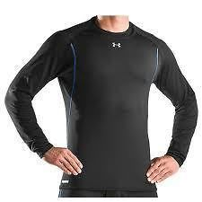 New Under Armour Mens ColdGear Base 2.0 Fitted Thermal Crew Shirt