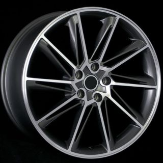 Line Style Gun Metal Machined Face Wheels Rims Fit Audi RS4 RS5 S4 S5
