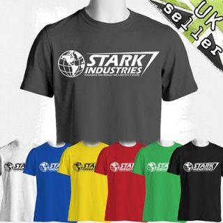 IRON MAN T SHIRT AVENGERS ASSEMBLE STARK INDUSTRIES Soft Fitted T