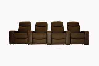 Home Theater Seating Recliner Movie Chair 4 Seats