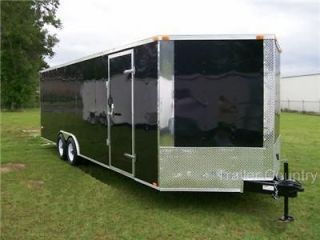 NEW 8.5X24 8.5 x 24 Enclosed Carhauler Cargo Trailer 10K Axles