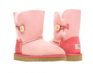 UGG Australia Kids Bailey Button Denim Tea Rose Boots 1000790 TRD