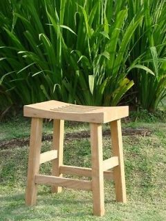 Curved Seat Shower Bath Spa Stool Bench Grade A Teak Wood Outdoor