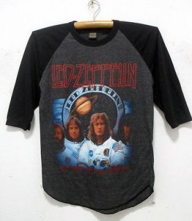 Led Zeppelin 3/4 baseball shirt punk rock band tour jersey 40 L