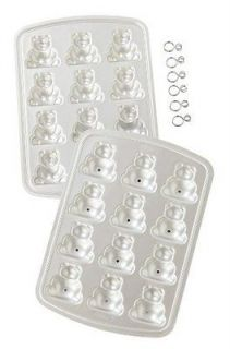 Wilton Aluminum 3D Mini Bear Cake Pan Mold Cake Pop Party NEW