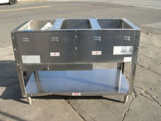 Supermetal Steam Table Gas, Used as Demo only Excellent Condition