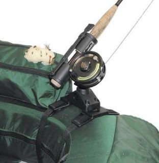 Fishing Fly Rod Holder for Float Tube or Pontoon Boat