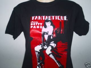 BETTY PAGE FANTASTIQUE MENS T SHIRT PIN UP BURLESQUE