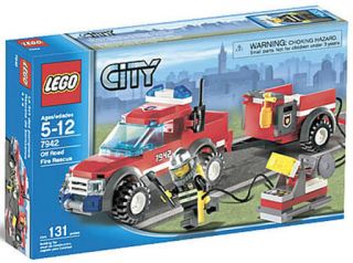 City Fire 7942 Off Road Fire Rescue Truck Trailer NEW Factory Sealed
