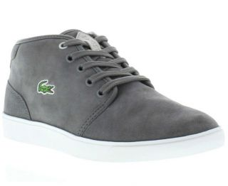 Lacoste Boots Genuine Benoit CI Spm Dark Grey Mens Casual Boot Sizes