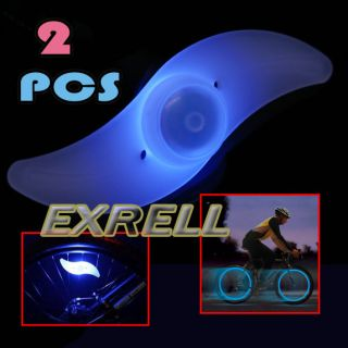Bike Bicycle Cycling Wheel Spoke Tire Tyre Bright Blue LED Light