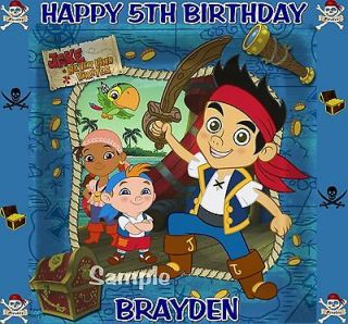 THE NEVERLAND PIRATES BIRTHDAY EDIBLE CAKE TOPPER DECORATIONS IMAGE