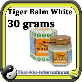 30 g TIGER BALM White Herbal Pain Relief Ointment Balm Jar Natural