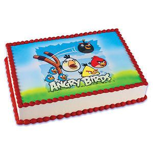 ANGRY BIRDS ANDROID NEW Personalized Edible Image Cake Topper
