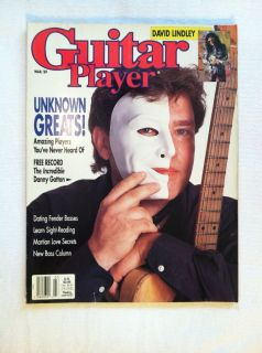 Guitar Player Magazine March 1989 Unknown Greats, David Lindley, New