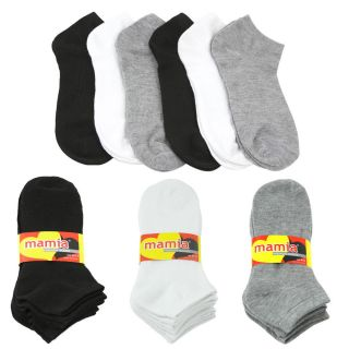12 Pair of Mamia Womens Ankle Socks Multiple Colors Available
