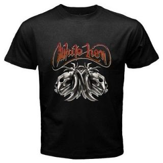 New *WHITE LION Retro 80s Rock Band Legend Mens Black Tee T Shirt
