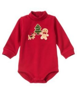 GINGERBREAD BOY NEWBORN CHRISTMAS WINTER BODYSUITS SHIRTS U PICK