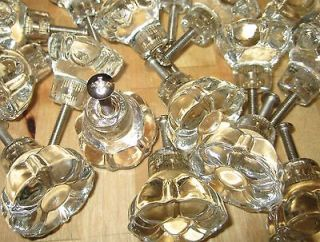 shaped crystal glass cabinet knobs, pulls cabinet hardware victorian