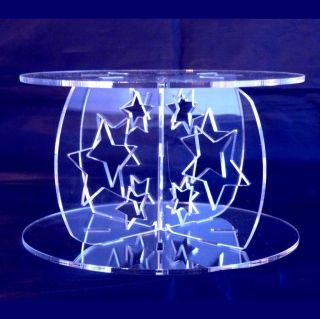 Stars Cross Pillars 10cm High for our Wedding & Party Cake Stands