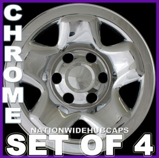 TACOMA Chrome Skins 6 Lug Rim Hub Caps Full Covers 16x7 Steel Wheel