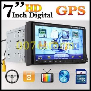 HD LCD Touch Screen 7 Car DVD CD AM/FM Player Deck GPS Navi Radio