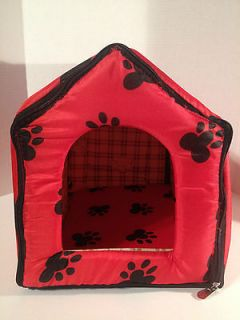 Large Indoor Pets Dogs Cats Cute Collapsible Soft Bed House