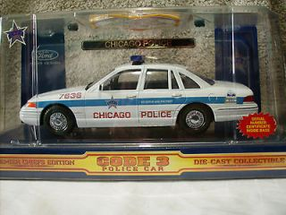 Code 3 Chicago Police Ford Crown Victoria w/Patch 124 Scale