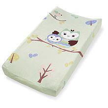 New Ultra Plush Changing Table Pad Cover Owl Who Loves You Sale