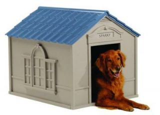 All Weather Extra Large Outdoor Pet Dog House w/ Roof and Foor NEW