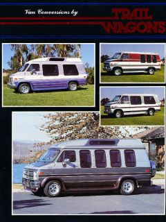1988 Chevrolet GMC Van Conversion Trail Wagon Brochure