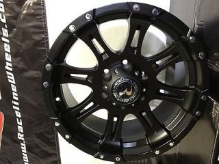 18 Inch Raceline Black Wheels Chevrolet Silverado Tahoe Colorado