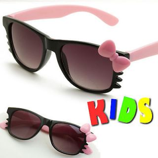 Childrens Kids Girls Hello Kitty Cat Eye Sunglasses Cute Fashion Cat