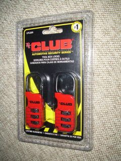 THE CLUB TOOL BOX LOCKS ~ SET OF (2) NEW IN PACKAGE