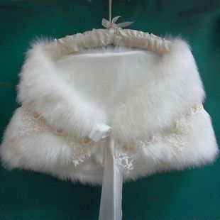 Newly listed Off White Luxurious Faux Fur Bridal Wrap Wedding Shawl