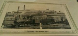 1909 Queensland Australia Sugar Cane Train Bingera Mill Refinery