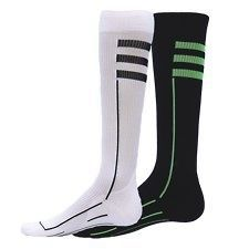 Compression Running Socks Mens Womens Neon Green Black White Runner