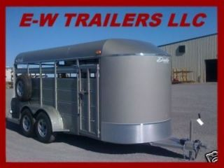 NEW 2013 DELTA STOCK AND CATTLE TRAILER 16 BUMBER PULL