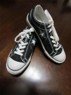 CONVERSE One Star Black Canvas Athletic Shoe Womens 7.5 WORN ONCE