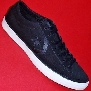 NEW Mens CONVERSE ALL STAR Black Canvas LO Padded Collar Athletic