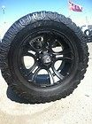 BLACK RIMS TIRES 6X139 CHEVY GMC TITAN SIERRA 305 60 18 COOPER STT MUD