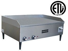 Uniworld UGR 2E 32 Commercial Electric Griddle 220V