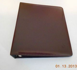 Franklin Covey Brown Synthetic Leather 7 Ring Starter Binder 7 1/2 x 9