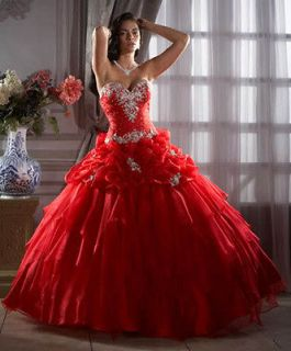 Quinceanera Prom Ball Gown Princess cut Evening/Weddin g Dress