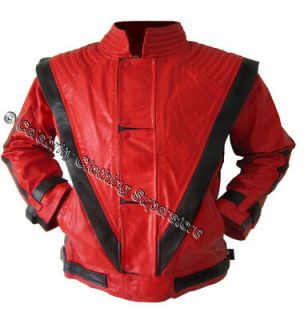 Michael Jackson Thriller Leather Red Jacket Free Billie Jean Gif